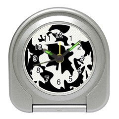 Black and white elegant design Travel Alarm Clocks