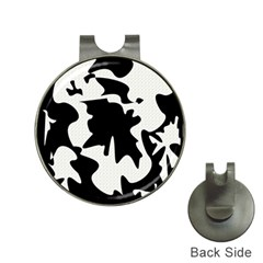 Black and white elegant design Hat Clips with Golf Markers