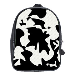 Black and white elegant design School Bags(Large)