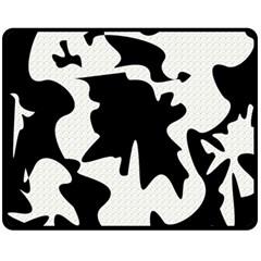 Black and white elegant design Fleece Blanket (Medium)