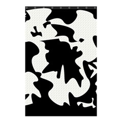 Black and white elegant design Shower Curtain 48  x 72  (Small)