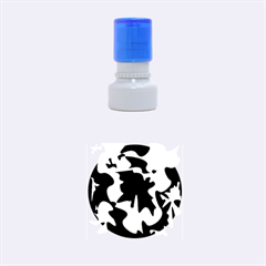 Black and white elegant design Rubber Round Stamps (Small)