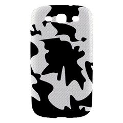 Black and white elegant design Samsung Galaxy S III Hardshell Case