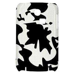 Black and white elegant design Samsung S3350 Hardshell Case