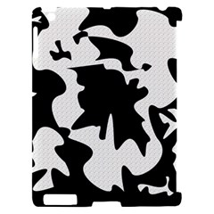 Black and white elegant design Apple iPad 2 Hardshell Case (Compatible with Smart Cover)