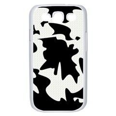 Black and white elegant design Samsung Galaxy S III Case (White)