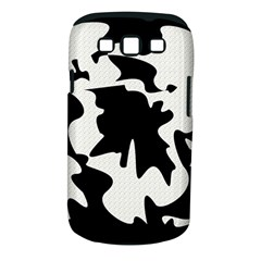 Black and white elegant design Samsung Galaxy S III Classic Hardshell Case (PC+Silicone)