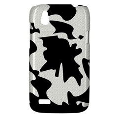 Black and white elegant design HTC Desire V (T328W) Hardshell Case