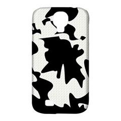 Black and white elegant design Samsung Galaxy S4 Classic Hardshell Case (PC+Silicone)