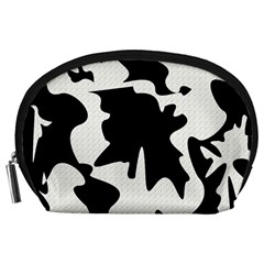 Black and white elegant design Accessory Pouches (Large)