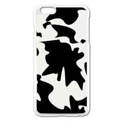 Black and white elegant design Apple iPhone 6 Plus/6S Plus Enamel White Case
