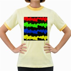 Colorful abstraction Women s Fitted Ringer T-Shirts