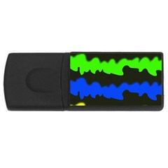 Colorful abstraction USB Flash Drive Rectangular (4 GB)