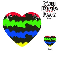 Colorful abstraction Playing Cards 54 (Heart)