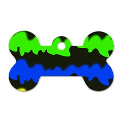 Colorful abstraction Dog Tag Bone (Two Sides)