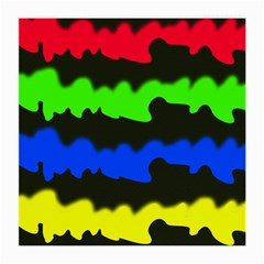 Colorful abstraction Medium Glasses Cloth