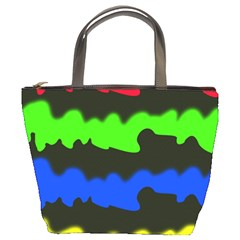 Colorful abstraction Bucket Bags