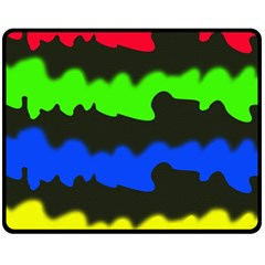 Colorful abstraction Fleece Blanket (Medium)