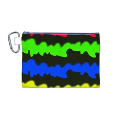 Colorful abstraction Canvas Cosmetic Bag (M)