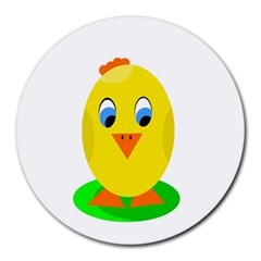Cute chicken  Round Mousepads