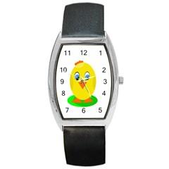 Cute chicken  Barrel Style Metal Watch