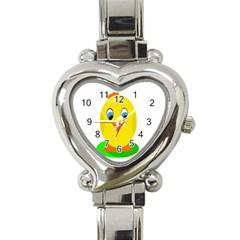 Cute chicken  Heart Italian Charm Watch