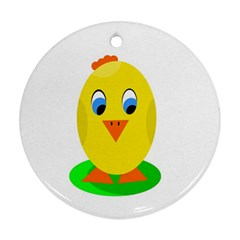 Cute chicken  Round Ornament (Two Sides)