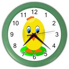 Cute chicken  Color Wall Clocks
