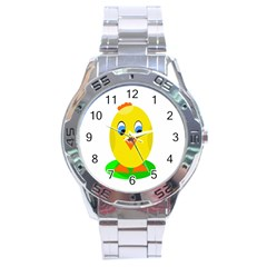 Cute chicken  Stainless Steel Analogue Watch