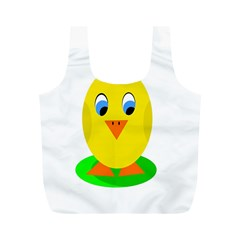 Cute chicken  Full Print Recycle Bags (M)