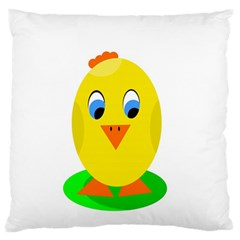 Cute chicken  Large Flano Cushion Case (Two Sides)
