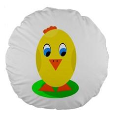Cute chicken  Large 18  Premium Flano Round Cushions