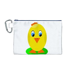 Cute chicken  Canvas Cosmetic Bag (M)