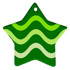 Green waves Ornament (Star)