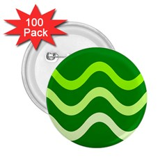 Green waves 2.25  Buttons (100 pack)