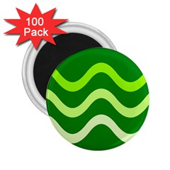 Green waves 2.25  Magnets (100 pack)