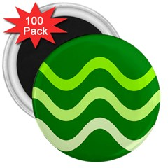 Green waves 3  Magnets (100 pack)