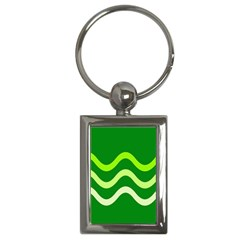 Green waves Key Chains (Rectangle)
