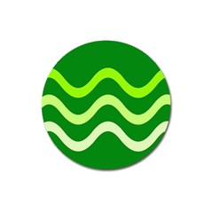 Green waves Magnet 3  (Round)