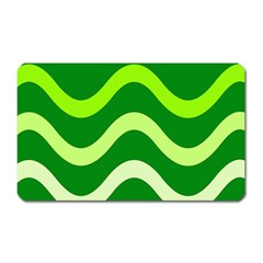Green waves Magnet (Rectangular)