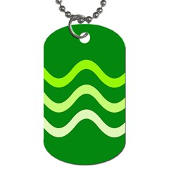 Green waves Dog Tag (One Side)