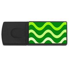 Green waves USB Flash Drive Rectangular (1 GB)