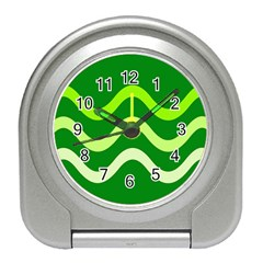 Green waves Travel Alarm Clocks