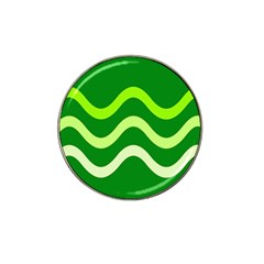 Green waves Hat Clip Ball Marker (10 pack)