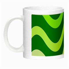 Green waves Night Luminous Mugs