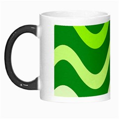 Green waves Morph Mugs
