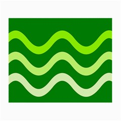 Green waves Small Glasses Cloth
