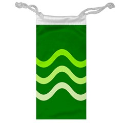 Green waves Jewelry Bags