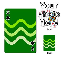 Green waves Playing Cards 54 Designs