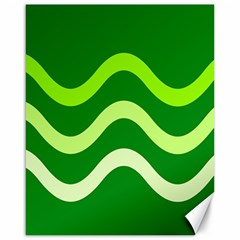 Green waves Canvas 16  x 20